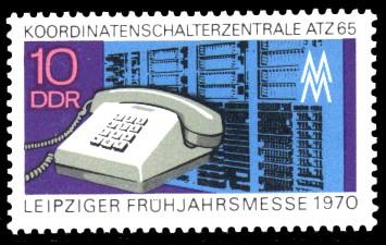 10 Pf Briefmarke: Leipziger Frühjahrsmesse 1970