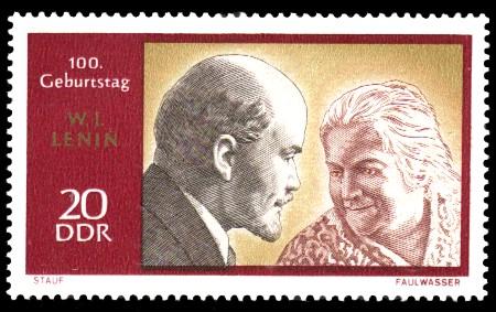 20 Pf Briefmarke: 100. Geburtstag Lenins