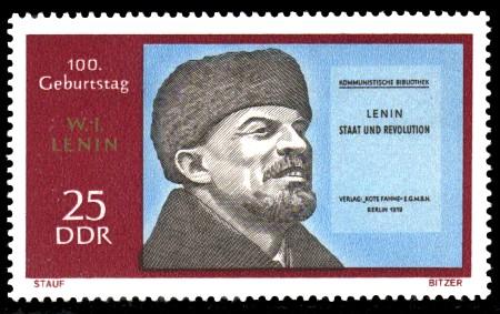 25 Pf Briefmarke: 100. Geburtstag Lenins