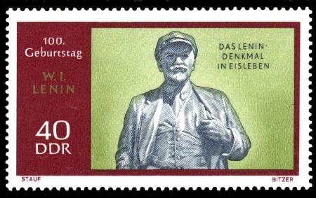 40 Pf Briefmarke: 100. Geburtstag Lenins