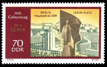 70 Pf Briefmarke: 100. Geburtstag Lenins