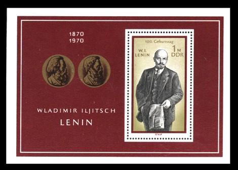 1 M Briefmarke: Block - 100. Geburtstag Lenins