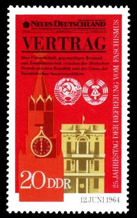 20 Pf Briefmarke: 25 Jahre Befreiung vom Faschismus