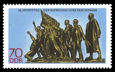 70 Pf Briefmarke: Marke aus Block - 25 Jahre Befreiung vom Faschismus