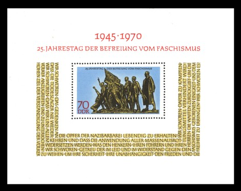 70 Pf Briefmarke: Block - 25 Jahre Befreiung vom Faschismus
