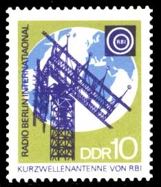 10 Pf Briefmarke: 25 Jahre Deutscher Demokratischer Rundfunk