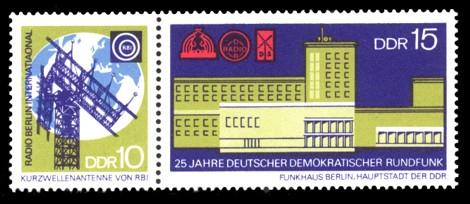 Briefmarke: Zusammendruck - 25 Jahre Deutscher Demokratischer Rundfunk