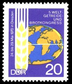 20 Pf Briefmarke: Welt-Getreide- und Brot-Kongress