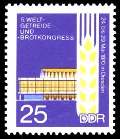 25 Pf Briefmarke: Welt-Getreide- und Brot-Kongress