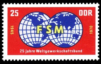 25 Pf Briefmarke: 25 Jahre WGB