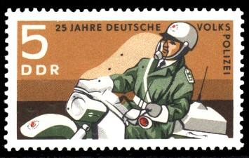 5 Pf Briefmarke: 25 Jahre Deutsche Volkspolizei