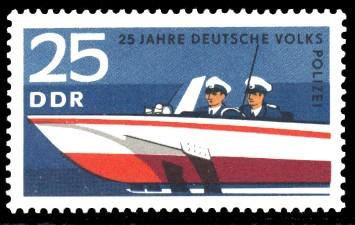 25 Pf Briefmarke: 25 Jahre Deutsche Volkspolizei