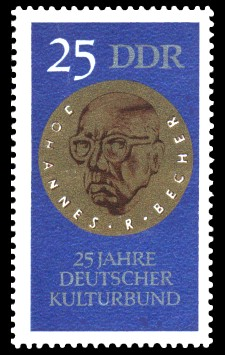 25 Pf Briefmarke: 25 Jahre Deutscher Kulturbund