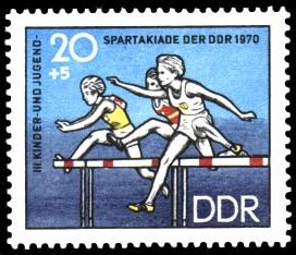 20 + 5 Pf Briefmarke: III. Kinder- und Jugendspartakiade