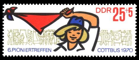 25 + 5 Pf Briefmarke: VI. Pioniertreffen