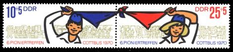 Briefmarke: Zusammendruck - VI. Pioniertreffen