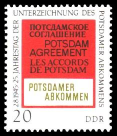 20 Pf Briefmarke: 25 Jahre Potsdamer Abkommen