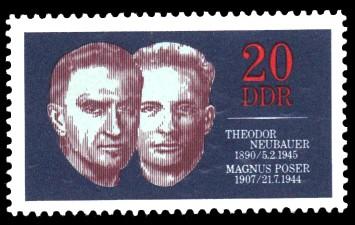 20 Pf Briefmarke: Widerstandskämpfer