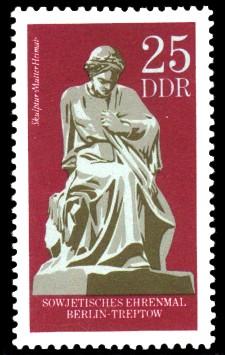 25 Pf Briefmarke: Gedenkstätte Treptow