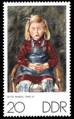 20 Pf Briefmarke: Zum Gedenken an K.Kollwitz, E.Barlach und O.Nagel
