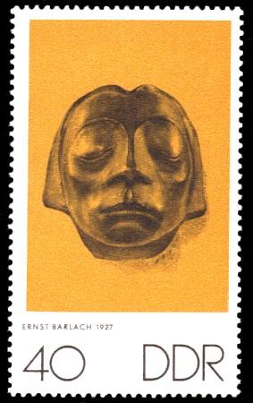 40 Pf Briefmarke: Zum Gedenken an K.Kollwitz, E.Barlach und O.Nagel