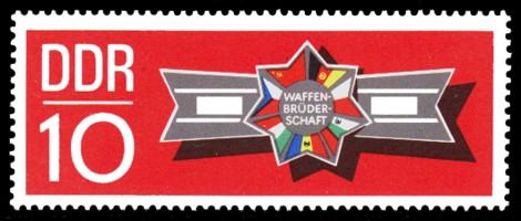 10 Pf Briefmarke: Waffenbrüderschaft