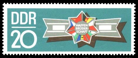 20 Pf Briefmarke: Waffenbrüderschaft