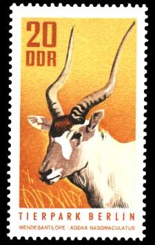 20 Pf Briefmarke: Tierpark Berlin, Mendesantilope