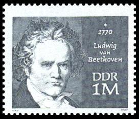 1 M Briefmarke: Marke aus Block - 200. Geburtstag L. v. Beethoven