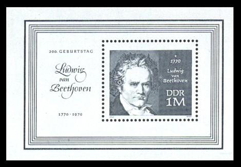 1 M Briefmarke: Block - 200. Geburtstag L. v. Beethoven