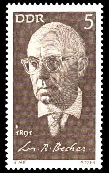 5 Pf Briefmarke: Bedeutende Persönlichkeiten, Joh. R. Becher
