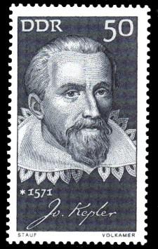 50 Pf Briefmarke: Bedeutende Persönlichkeiten, Johannes Kepler