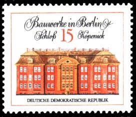 15 Pf Briefmarke: Bauwerke in Berlin, Schloß Köpenick