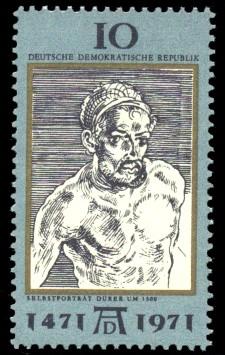 10 Pf Briefmarke: 500. Geburtstag Albrecht Dürer