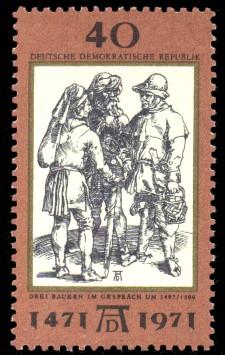40 Pf Briefmarke: 500. Geburtstag Albrecht Dürer