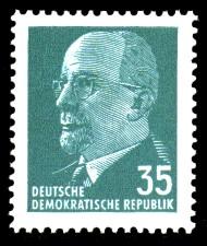 35 Pf Briefmarke: Staatsratsvorsitzender Walter Ulbricht