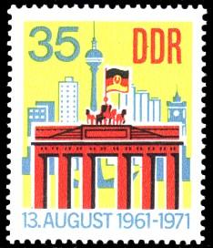 35 Pf Briefmarke: 10 Jahre antifaschistischer Schutzwall