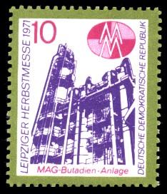 10 Pf Briefmarke: Leipziger Herbstmesse 1971