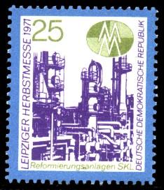 25 Pf Briefmarke: Leipziger Herbstmesse 1971