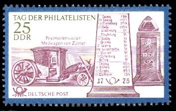 25 Pf Briefmarke: Tag der Philatelisten