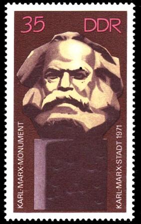 35 Pf Briefmarke: Karl-Marx-Monument