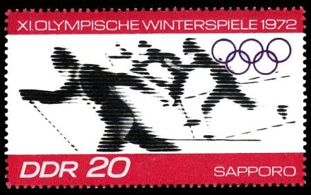 20 Pf Briefmarke: XI.Olympische Winterspiele 1972, Skilanglauf