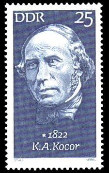 25 Pf Briefmarke: Bedeutende Persönlichkeiten, K.A.Kocor