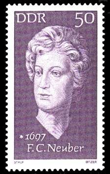 50 Pf Briefmarke: Bedeutende Persönlichkeiten, F.C.Neuber