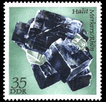 35 Pf Briefmarke: Mineralfunde aus der DDR, Halit