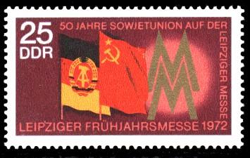 25 Pf Briefmarke: Leipziger Frühjahrsmesse 1972
