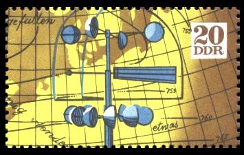20 Pf Briefmarke: Internationale Meteorologenversammlung Leipzig