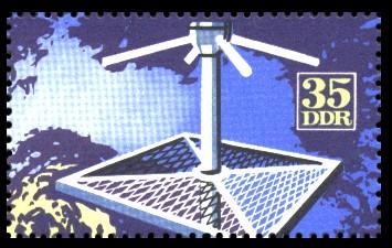 35 Pf Briefmarke: Internationale Meteorologenversammlung Leipzig