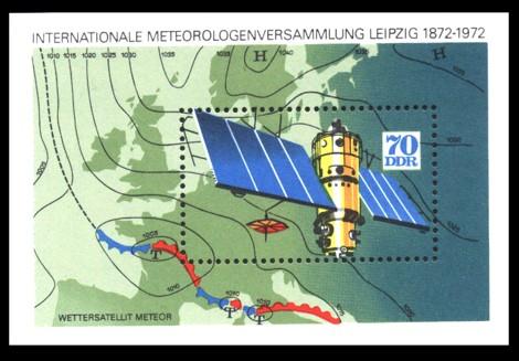 Briefmarke: Block - Internationale Meteorologenversammlung Leipzig