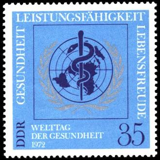 35 Pf Briefmarke: Welttag der Gesundheit